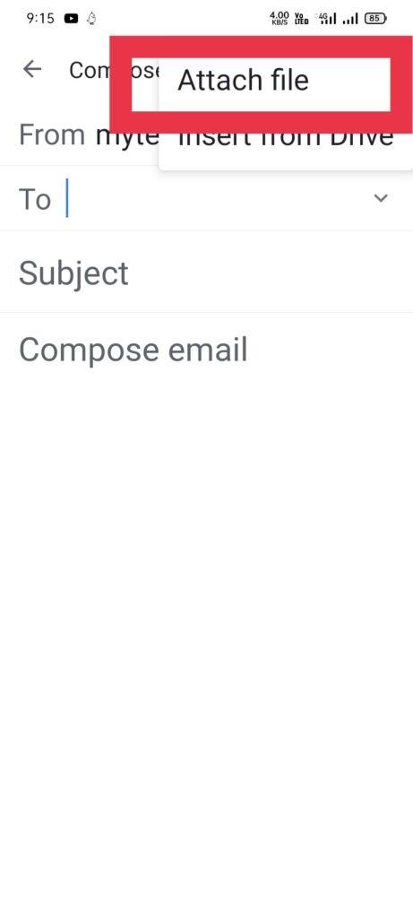 मोबाइल मे से ईमेल से फोटो कैसे भेजे 3