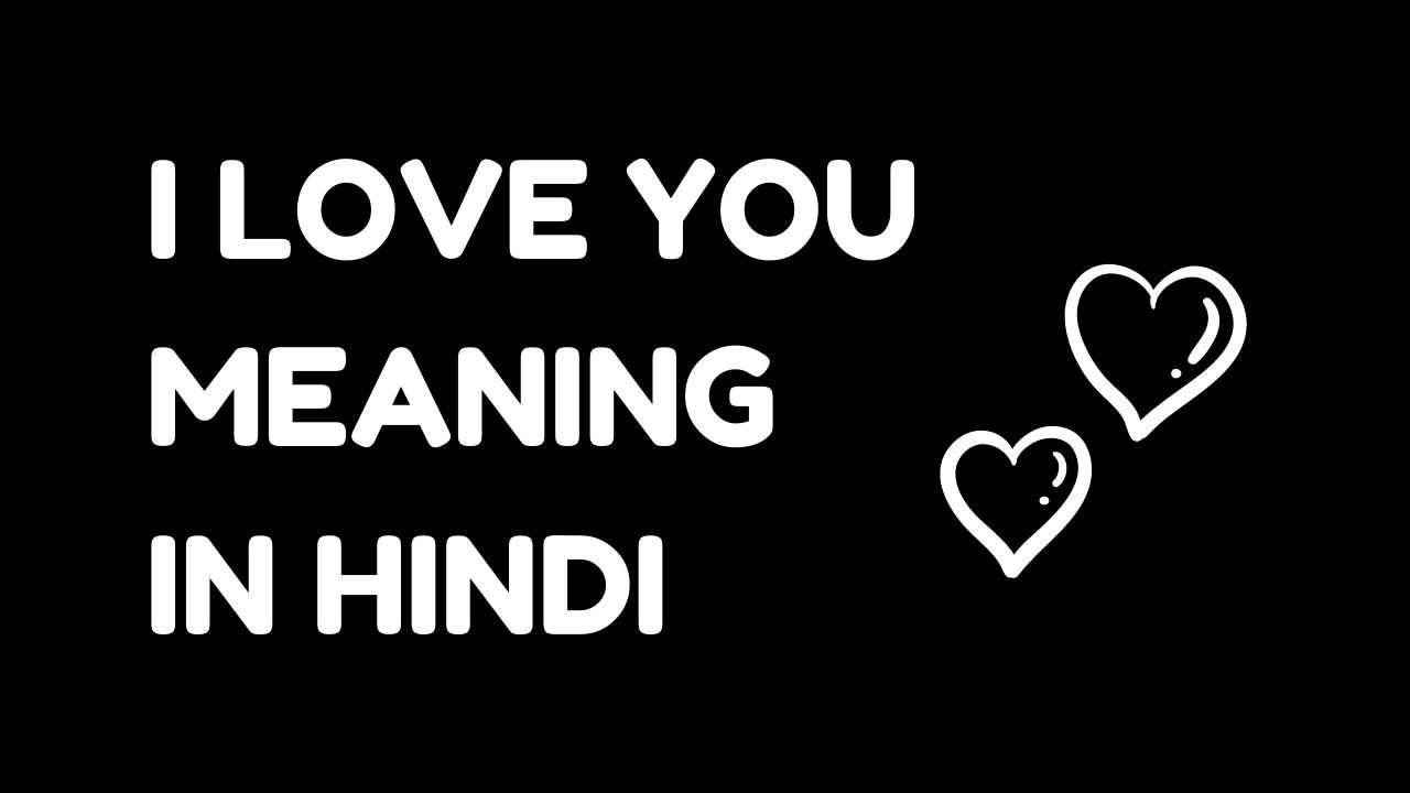 I Love You Meaning in Hindi